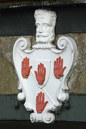 Coat of arms on Homersfield Bridge