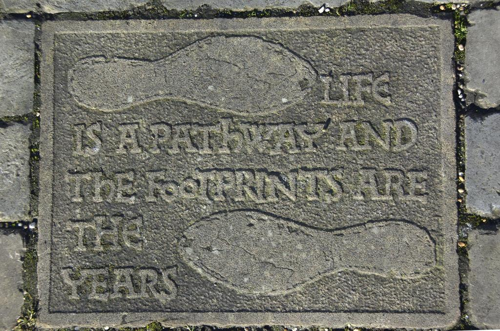 Plaques On Wall Of Castle Mound From The Recording Archive